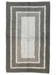 Sonoma Shades of Gray Border Stripe Plush Pile Bath Rug, 23x38 Cotton Bath Mat