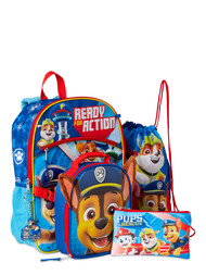 Paw Patrol  Ready For Action Backpack & Lunch Box 5 Piece Set, School Bookbag