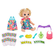 Baby Alive Happy Hungry Baby Blonde Hair Doll, 50 Sounds & Phrases plus Bonus