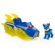 Paw Patrol Mighty Pups Charged Up Chase's Deluxe Vehicle with Lights & Sounds