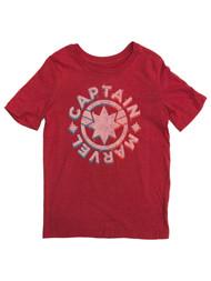 Captain Marvel Girls Red Short Sleeve T-Shirt Tee Shirt