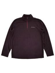 Eddie Bauer Mens Dark Purple Fleece Quarter-Zip Pullover Jacket