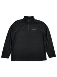 Eddie Bauer Mens Black Fleece Quarter-Zip Pullover Jacket Large