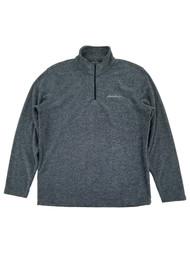 Eddie Bauer Mens Heather Gray Fleece Quarter-Zip Pullover Jacket