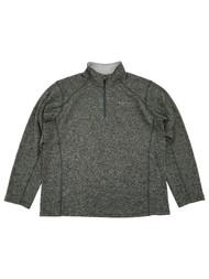 Eddie Bauer Mens Charcoal Gray Radiator Fleece Quarter-Zip Pullover Jacket