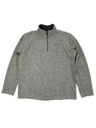 Eddie Bauer Mens Barley Gray Radiator Fleece Quarter-Zip Pullover Jacket