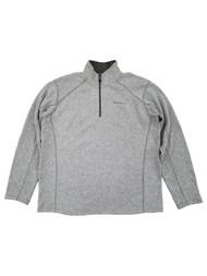 Eddie Bauer Mens Light Gray Radiator Fleece Quarter-Zip Pullover Jacket