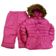 Infant Girls Pink Outerwear Set Snow Pants Ski Jacket Coat Snowsuit 12m