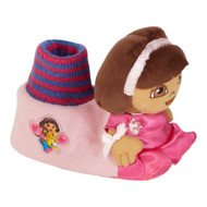 Nickelodeon Toddler Girl Pink Dora the Explorer Slippers House Shoes XL 11-12