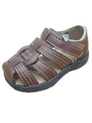 Infant Boys Strappy Brown Sandals Baby Shoes 5