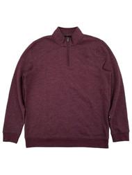 Mens Fig Fleece Quarter-Zip Pullover Sweatshirt Jacket