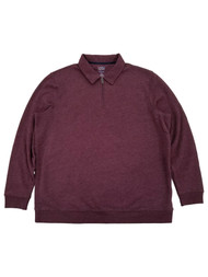 Mens Fig Fleece Quarter-Zip Polo Pullover Sweatshirt Jacket