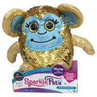 Sparkle Pets Honey The Monkey Sequined Stuffed Animal, 6 inch Plush Pal