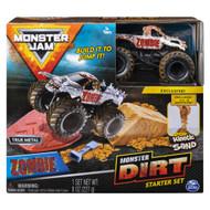 Monster Jam Zombie Dirt Starter Set with Die-Cast Monster Jam Truck Vehicle