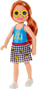 Barbie Club Chelsea Doll, 6 inch Redhead with Flower Shaped Sunglasses