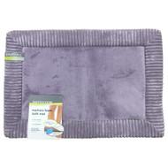 Microdry AeroCore Memory Foam Lavender Bath Mat, Skid-Resistant 16x24 Bath Rug