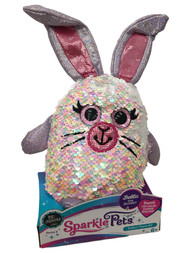 Sparkle Pets Bella the Bunny Rabbit Sequined Stuffed Animal, 6 inch Plush Pal