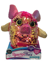Sparkle Pets Pinkie the Pig Sequined Stuffed Animal, 6 inch Plush Pal