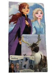 Disney Frozen Anna & Elsa Bath Towel Set Washcloth, 2 Piece
