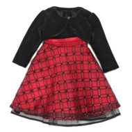 Blueberi Infant Toddler Girl Sparkly Red Sequin Party Dress Holiday Capelet 12m