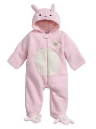 Baby Gear Infant Girls Plush Pink & Ivory Faux Shearling Lamb Snowsuit Baby Pram 6-9m