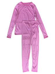 Cuddl Duds Chill Chasers Girls Solid Pink Thermal Underwear Base Layer