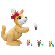 FurReal Mama Josie the Kangaroo Interactive Pet Toy, Fur Real Plush with Babies