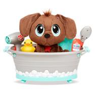 Rescue Tales Chocolate Lab Scrub 'n Groom Bathtub Puppy Dog Stuffed Animal Set