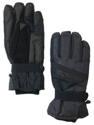 Tek Gear Mens Black Touch Screen Water Resistant Snow & Ski Gloves S/M