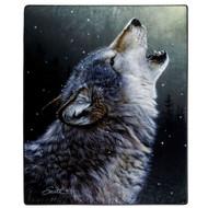 "American Heritage Royal Plush Ascending Song Wolf Throw Blanket, 50"" X 60"""