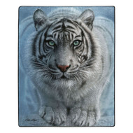 American Heritage Royal Plush White Tiger Throw Blanket, 50 in X 60 in