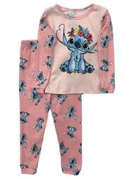 Disney Toddler Girls Pink Cotton Lilo & Stitch Pajamas Sleep Set