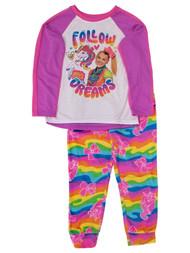 Jojo Siwa Girls Follow Your Dreams Unicorn Pajama Pink Sleep Pants Tee