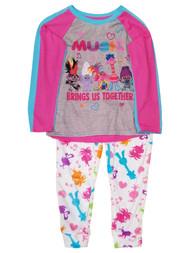 Trolls Pink Music Brings Us Together Poppy Cooper Pajamas PJs Sleep Set XS (4/5)