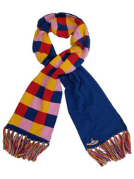 Beatles Womens Red Blue & Pink Yellow Submarine Cozy Winter Check Travel Scarf