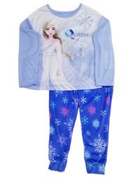 Frozen Girls Elsa Blue Queen of Snow & Ice Shirt & Pants Pajamas Sleep Set