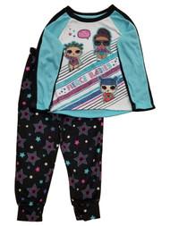 Girls LOL Surprise Blue Fierce Babies Pajamas Long-Sleeve Shirt & Pants Set