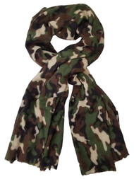 Womens Forest Green Camo Cozy Warm Big Blanket Scarf 76 by 35.5 Inches