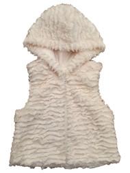 Infant & Toddler Girls Super Soft Cream Colored Furry Faux Fur Jacket Vest