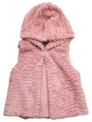 Infant & Toddler Girls Super Soft Pink Furry Faux Fur Jacket Vest