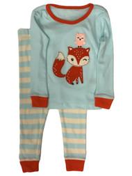 Infant & Toddler Girls Blue Cotton Fox & Owl Pajamas Baby Sleep Set