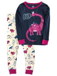 Infant & Toddler Girls Blue Cotton Dinosaur Pajamas Baby Sleep Set
