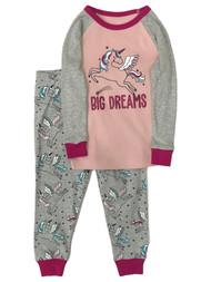 Infant & Toddler Girls Pink Cotton Pegasus Unicorn Pajamas Baby Sleep Set
