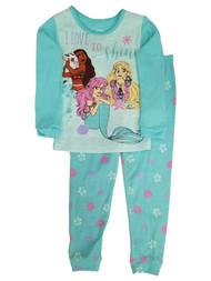 Disney Princess Toddler Girls Love to Shine Moana Ariel Rapunzel Pajamas Set 2T