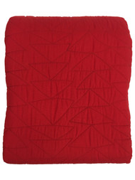 Pillowfort Reversible Solid Red Stitched Full Queen Bed Quilt