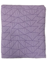 Pillowfort Reversible Solid Purple Lavendar Stitched Full Queen Bed Quilt