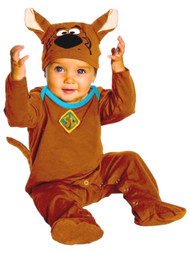 Rubies Infant Boys & Girls Scooby Doo Costume Baby Romper with Tail & Hat 6-12m