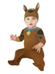 Infant Boys & Girls Scooby Doo Dog Costume with Sleeper & Hat