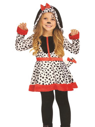 Fun World Toddler Girls Spotted Sweetie Dalmatian Dog Costume Dress