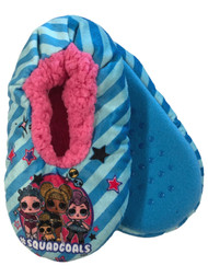 LOL Surprise Girls Blue Squad Goals Sherpa Ballet Slippers House Shoes